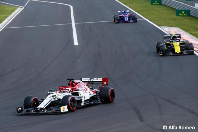 Kimi Raikkonen - Alfa Romeo - Carrera - GP Hungría 2019