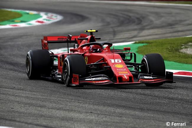 Charles Leclerc - Ferrari - Resultados - GP Italia 2019