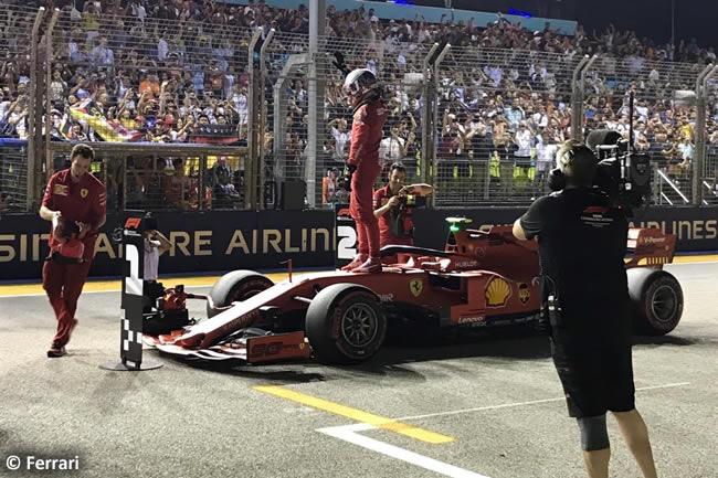 Charles Leclerc - Scuderia Ferrari -Clasificación - GP Singapur 2019