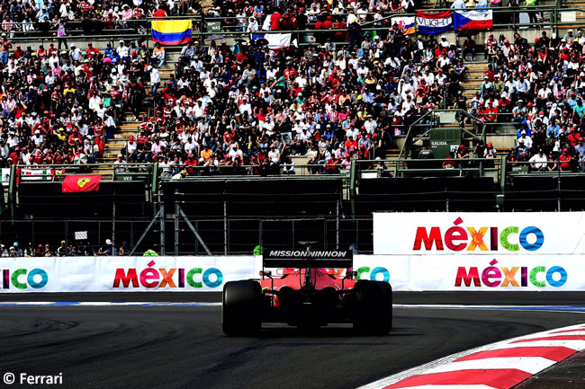 Sebastian Vettel- Scuderia Ferrari - Carrera - GP México 2019