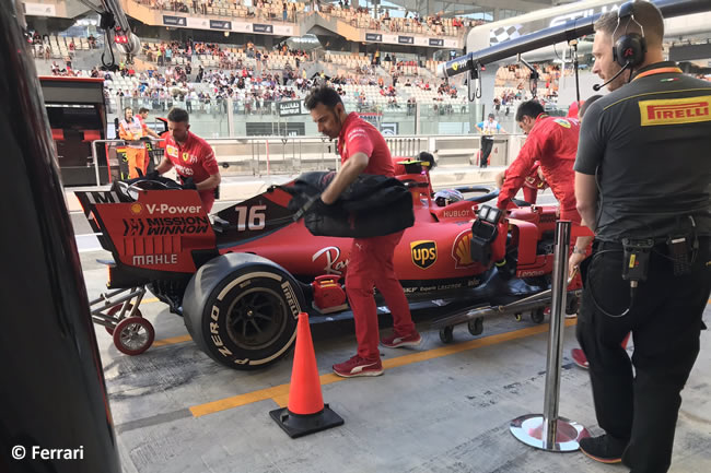 Charles Leclerc - Scuderia Ferrari - Entrenamientos Libres - GP Abu Dhabi 2019