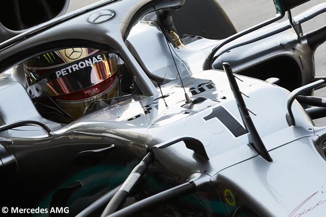 Lewis Hamilton - Mercedes - Entrenamientos Libres - GP Abu Dhabi 2019