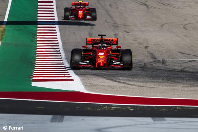 Sebastian Vettel - Charles Leclerc - Ferrrari - Clasificación- GP Estados Unidos - Austin - Texas - COTA