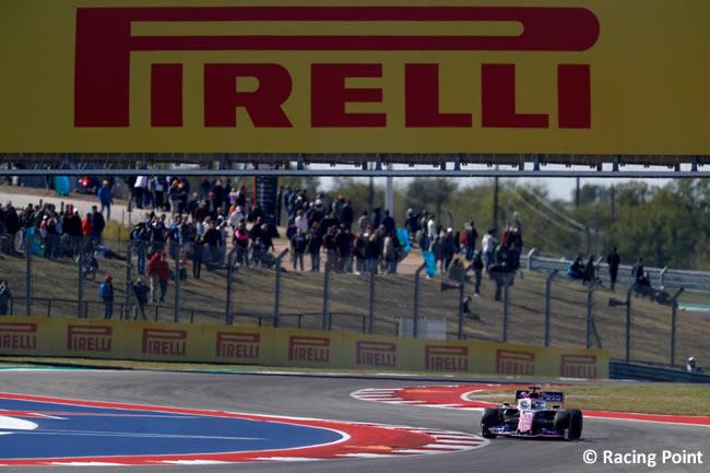 Sergio Pérez - Racing Point - Entrenamientos Libres - GP Estados Unidos - Austin - Texas - COTA