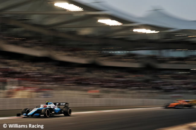 Robert Kubica - Williams - Resultados - GP Abu Dhabi 2019