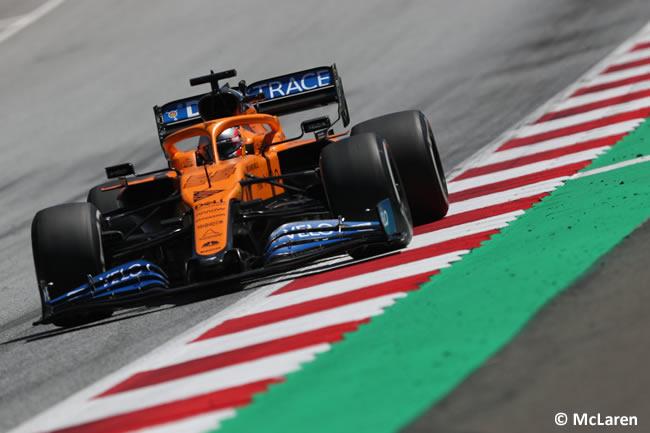 Carlos Sainz - McLaren - Entrenamientos Libres - GP de Estiria 2020
