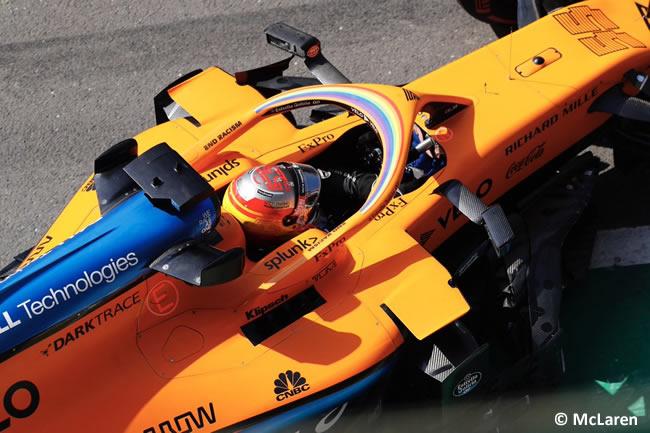 Carlos Sainz - McLaren - Entrenamientos Libres- GP de Gran Bretaña - Silverstone 2020
