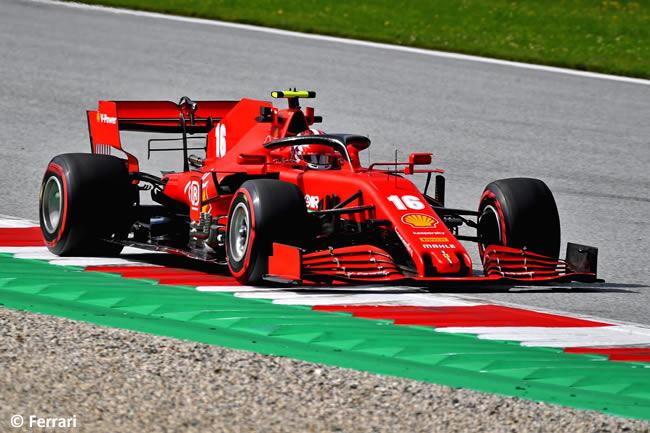 Charles Leclerc - Scuderia Ferrari - Carrera - GP de Austria 2020