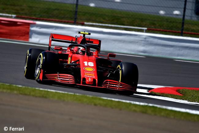 Charles Leclerc - Ferrari - Entrenamientos Libres- GP de Gran Bretaña - Silverstone 2020