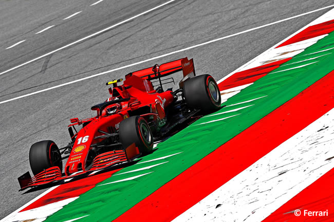 Charles Leclerc - Scuderia Ferrari - Entrenamientos Libres - GP de Estiria 2020