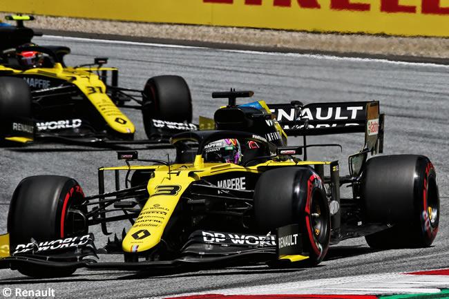 Daniel Ricciardo - Esteban Ocon - Renault - Clasificación - GP de Austria 2020