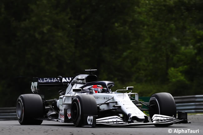 Daniil Kvyat - AlphaTauri- Carrera - GP de Hungría 2020