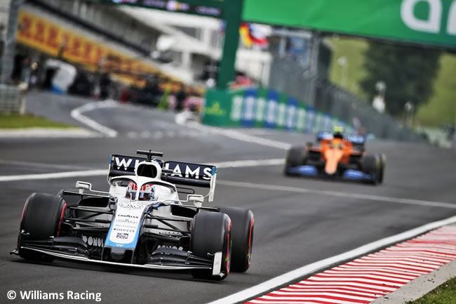 George Russell - Williams - Carrera - GP de Hungría 2020