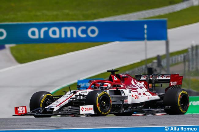 Kimi Raikkonen - Alfa Romeo - Carrera - GP de Estiria 2020