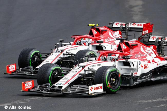 Kimi Raikkonen - Antonio Giovinazzi - Alfa Romeo - Carrera - GP de Hungría 2020