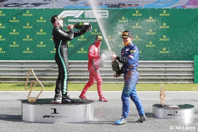 Lando Norris - McLaren - Podio - Carrera - GP de Austria 2020