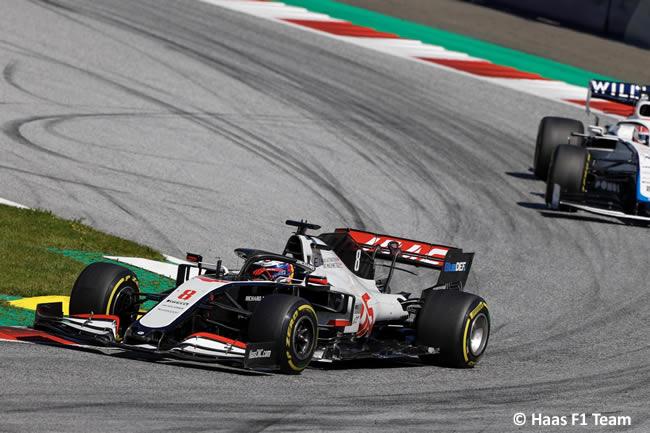 Romain Grosjean - Haas - Carrera - GP de Austria 2020