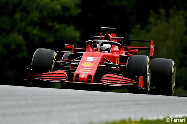 Sebastian Vetel - Ferrari - Entrenamientos Libres - GP de Austria 2020
