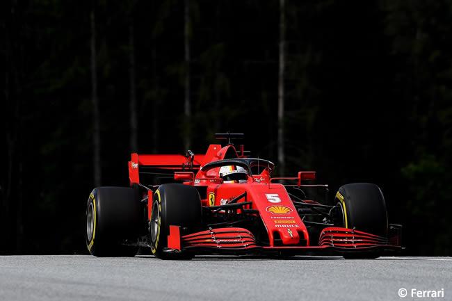 Sebastian Vettel - Scuderia Ferrari - Carrera - GP de Estiria 2020