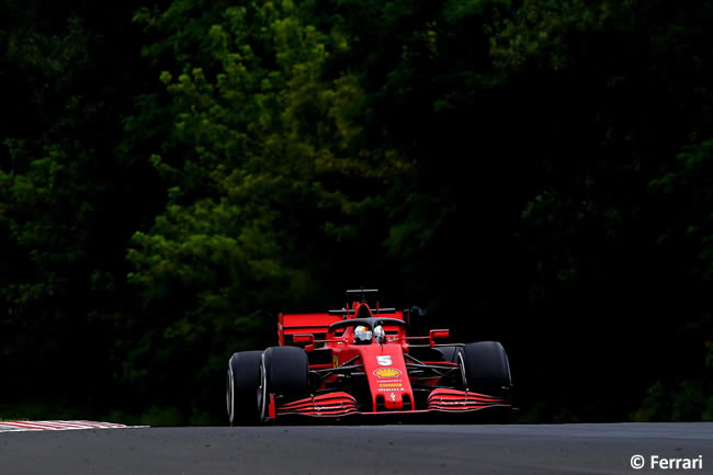 Sebastian Vettel - Scuderia Ferrari - Carrera - GP de Hungría 2020
