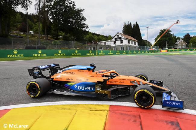 Carlos Sainz - McLaren - Entrenamientos Libres - GP Bélgica 2020