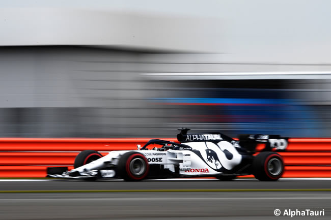 Daniil Kvyat - AlphaTauri - Entrenamientos - 70º GP Aniversario