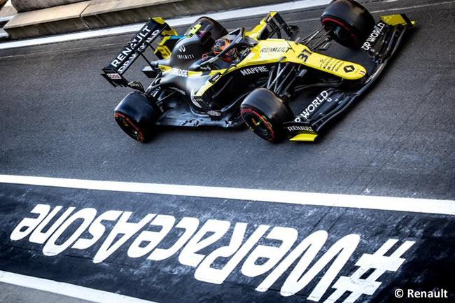 Esteban Ocon - Renault - Entrenamientos - 70º GP Aniversario