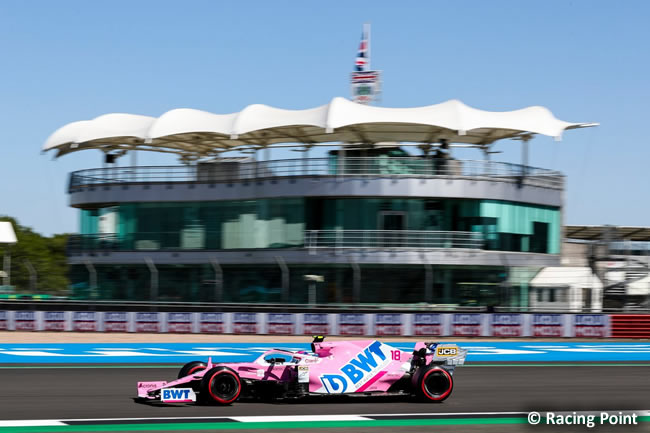 Lance Stroll - Racing Point - Entrenamientos - 70º GP Aniversario