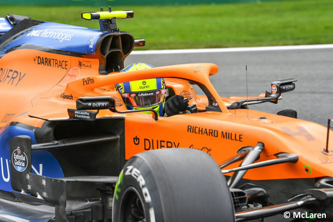 Lando Norris - McLaren - Carrera- GP Bélgica 2020
