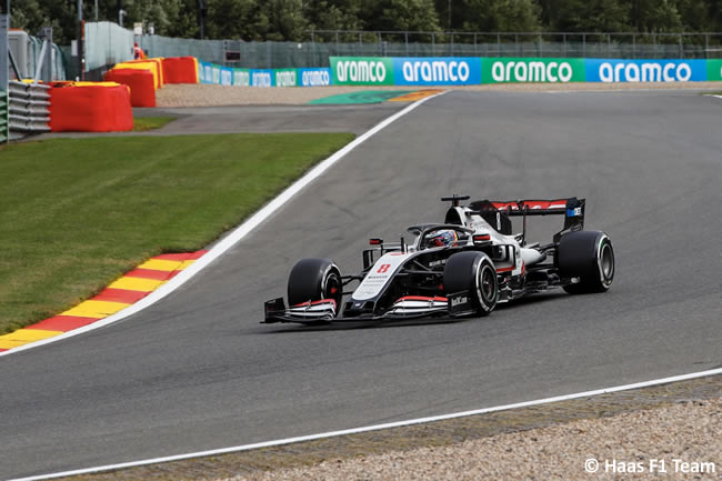 Romain Grosjean - Haas - Carrera- GP Bélgica 2020