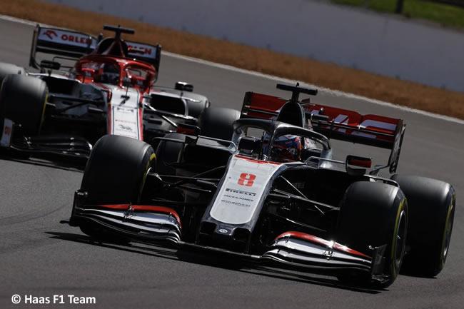 Romain Grosjean - Haas - Carrera - GP de Gran Bretaña - Silverstone 2020