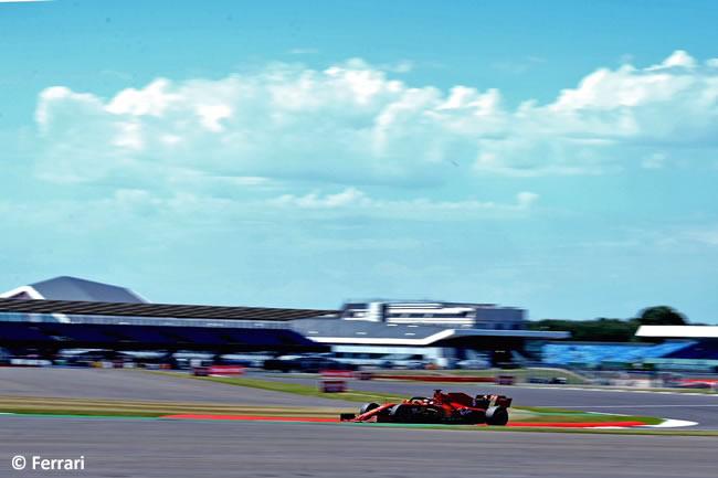 Sebastian Vettel - Scuderia Ferrari - Entrenamientos - 70º GP Aniversario