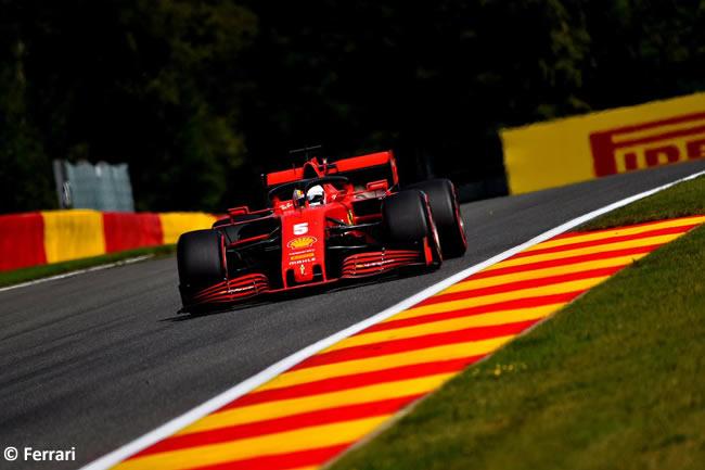 Sebastian Vettel - Ferrari - Carrera- GP Bélgica 2020