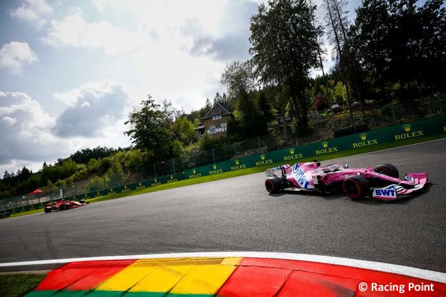 Sergio Pérez - Racing Point - Carrera- GP Bélgica 2020