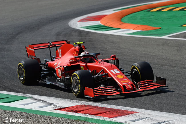 Charles Leclerc - Scuderia Ferrari - Entrenamientos Libres GP de Italia - Monza - 2020