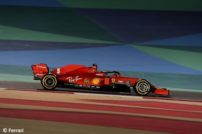 Sebastian Vettel- Ferrari - Gran Premio Bahréin - 2020