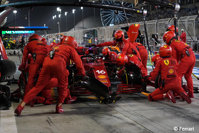 Charles Leclerc - Scuderia Ferrari - Carrera - GP Bahréin 2021