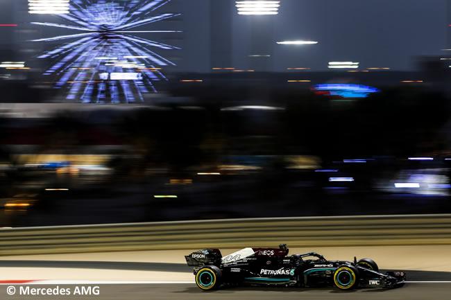 Lewis Hamilton - Mercedes - Entrenamientos- GP Bahréin 2021