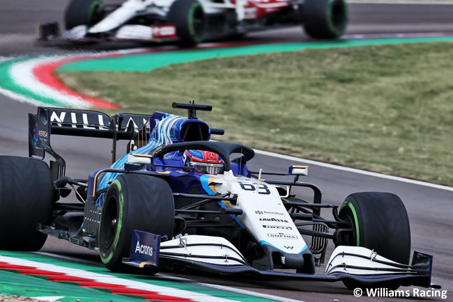 George Russell - Williams - Carrera - GP Emilia Romaña 2021