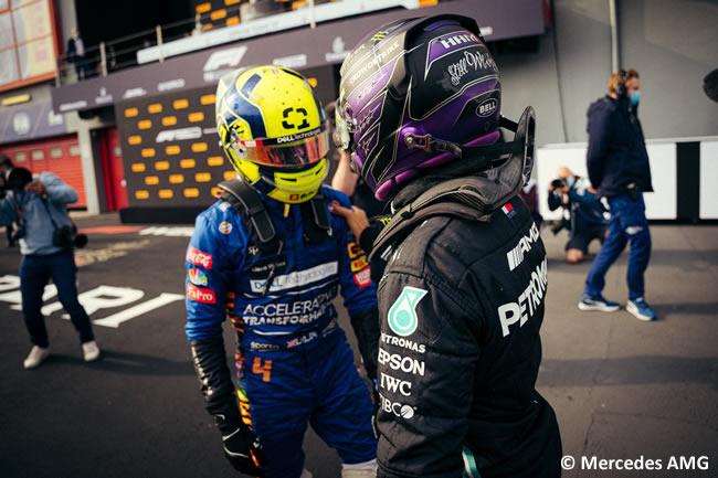 Lewis Hamilton - Mercedes - Lando Norris - Carrera - GP Emilia Romaña 2021