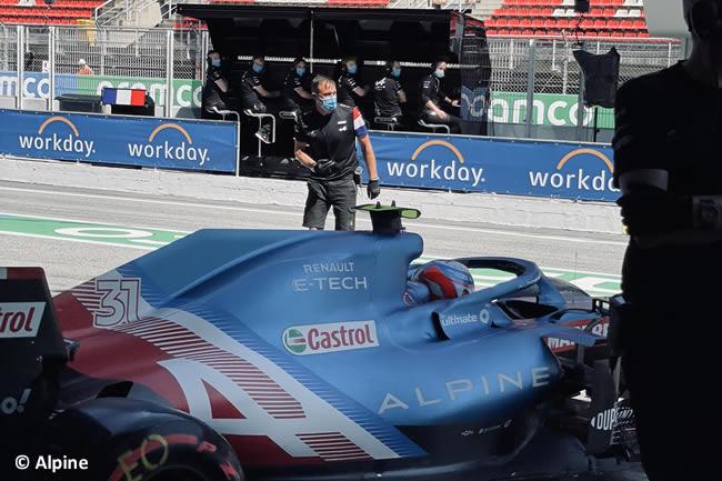 Esteban Ocon - Alpine - Clasificación - GP España Barcelona - Montmeló 2021