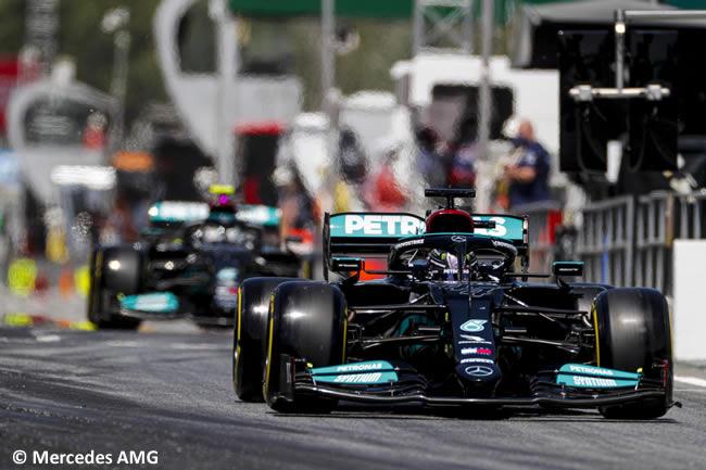 Lewis Hamilton - Valtteri Bottas - Mercedes - Clasificación - GP España Barcelona - Montmeló 2021