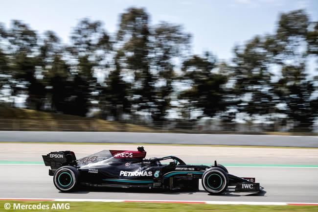 Lewis Hamilton - Mercedes - Entrenamientos Libres 2 - FP2 - GP España Barcelona - Montmeló 2021