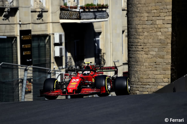 Carlos Sainz - Ferrari - Entrenamientos Libres - GP Azerbaiyán 2021