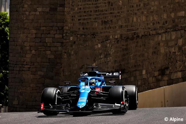 Fernando Alonso - Ferrari - Entrenamientos Libres - GP Azerbaiyán 2021