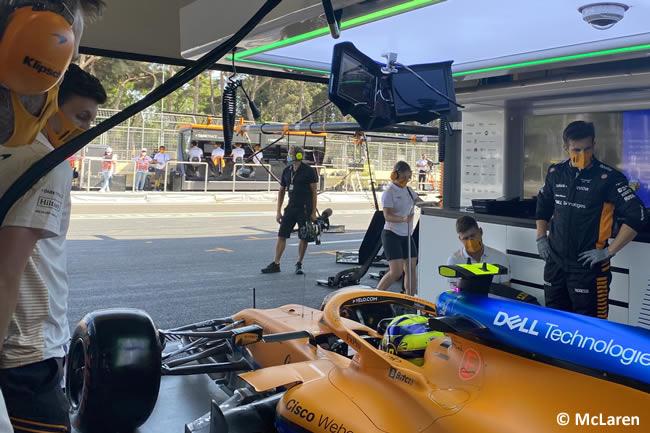 Lando Norris - McLaren - Entrenamientos Libres - GP Azerbaiyán 2021