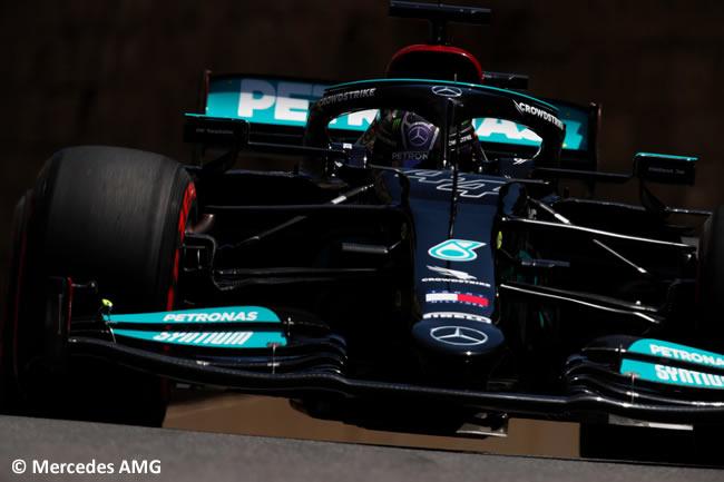 Lewis Hamilton - Mercedes - Entrenamientos Libres - GP Azerbaiyán 2021