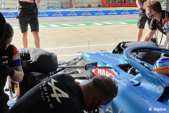 Fernando Alonso - Alpine - Clasificación - GP Gran Bretaña 2021