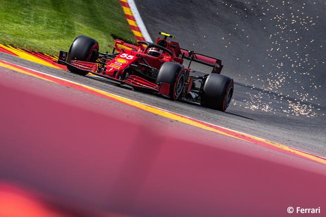 Carlos Sainz - Ferrari - Entrenamientos Libres - Gp Bélgica 2021