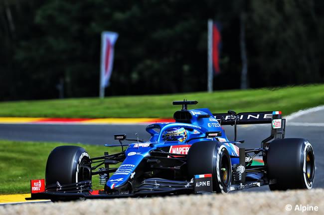 Fernando Alonso - Alpine - Entrenamientos Libres - Gp Bélgica 2021